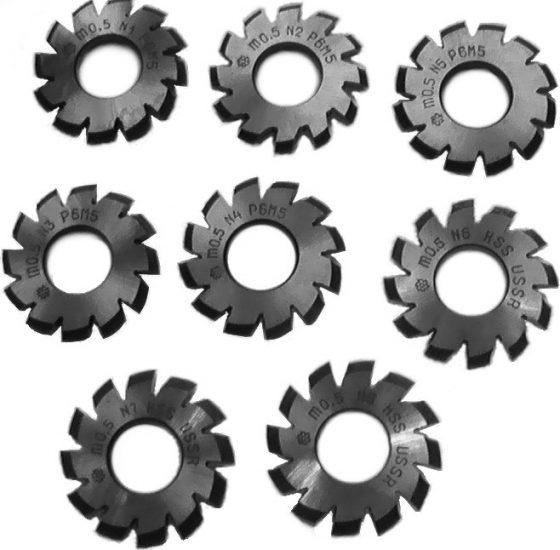 фрезы дисковые зуборезные модульные